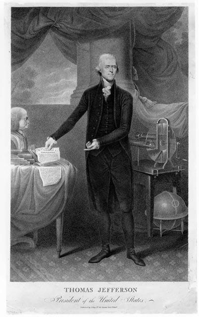 Thomas Jefferson Newly Elected President