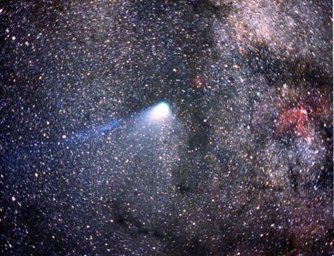 Halley's Comet Crossing Milky Way Aviation & Space Exploration STEM Visual Arts Astronomy