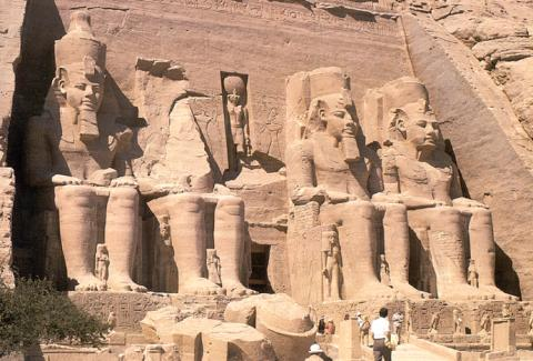 Monument to Ramses II at Abu Simbel