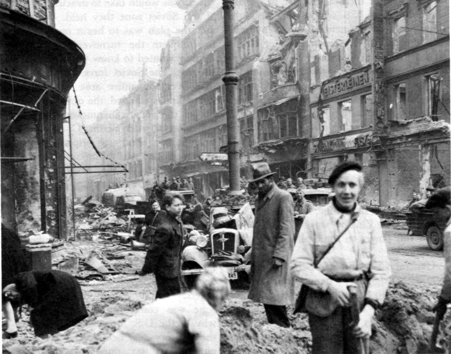 Berlin Street In May Of 1945 After The Fall