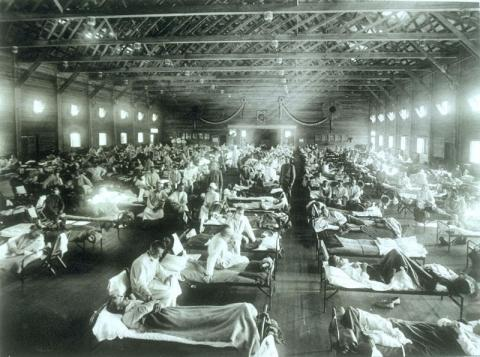 Spanish Flu Pandemic (Illustration) Summer Reading WWI Series World War I Geography Tragedies and Triumphs American History Famous Historical Events Medicine Social Studies Disasters