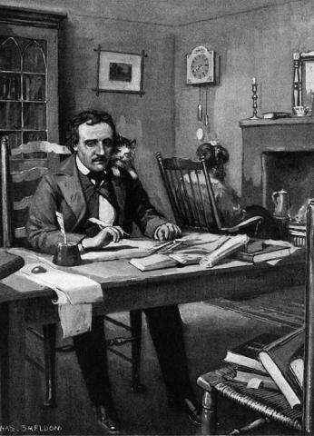 Edgar Allan Poe at Work Nineteenth Century Life Biographies Famous People Social Studies Visual Arts