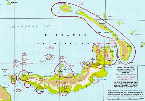 Cape Gloucester - Japanese Positions, 1943 Battle American History Tragedies and Triumphs World War II Geography