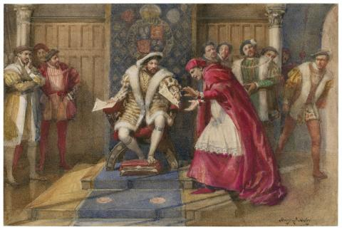 THE FALL of CARDINAL WOLSEY (Illustration) Government Law and Politics Legends and Legendary People Medieval Times World History Ethics Biographies Famous Historical Events Famous People