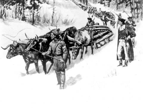 Artillery Transport from Ticonderoga