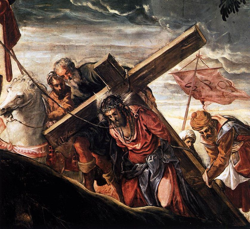Jesus Carrying The Cross Painting Trial of Jesus - Carry...