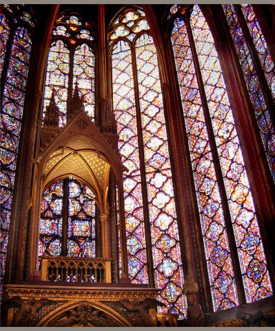 Sainte Chapelle, Paris - Beautiful Interior Windows Medieval Times Philosophy Visual Arts World History