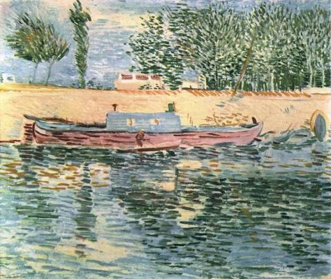 Banks of the Seine with Boats Social Studies Tragedies and Triumphs Visual Arts Nineteenth Century Life Geography