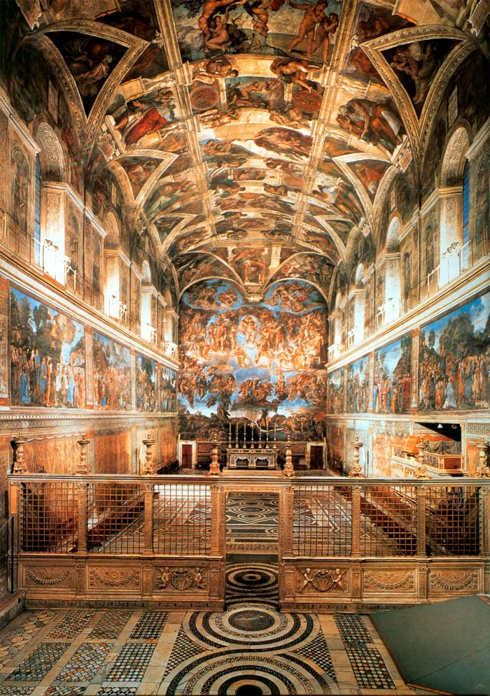 Image Gallery inside the sistine chapel
