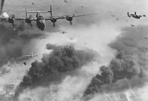 B-24s IN COMBAT (Illustration) American History Awesome Radio - Narrated Stories Biographies Social Studies Tragedies and Triumphs World War II