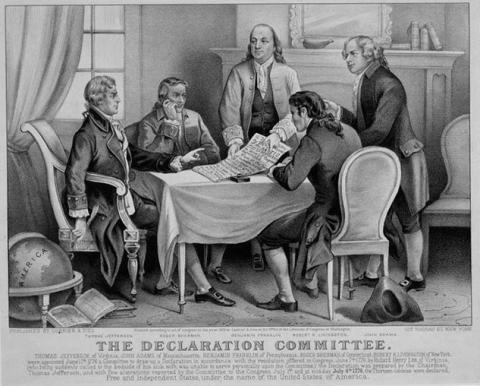 Declaration of Independence Committee Government American History American Revolution Famous Historical Events Law and Politics Social Studies