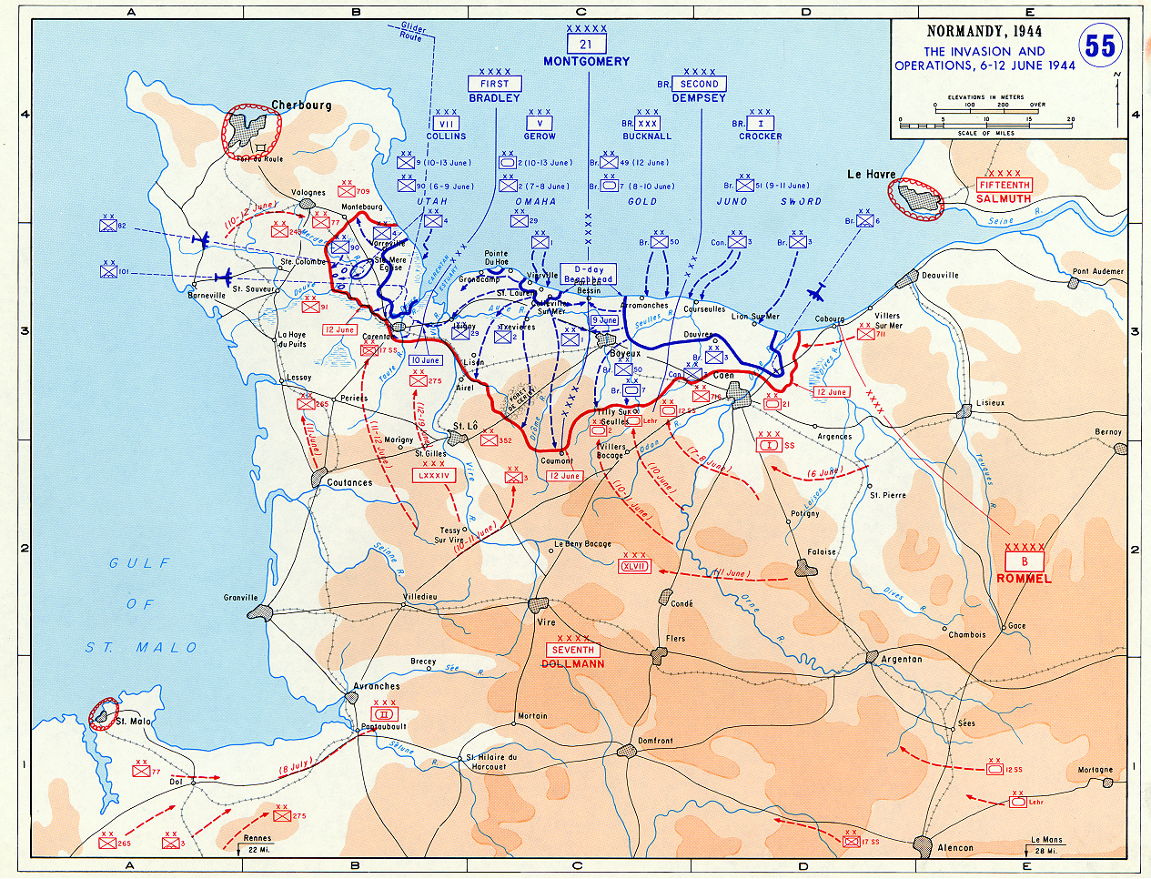 Normandy: The Invasion and Operations - June 6-12, 1944