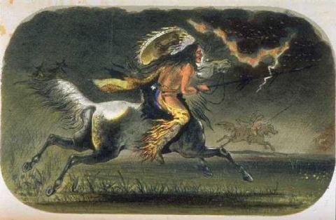 Indian Horseman Visual Arts American History Native-Americans and First Peoples  Social Studies