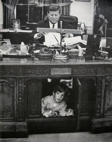 John F. Kennedy, Jr. - Playing in the Resolute Desk American History American Presidents Famous People Social Studies
