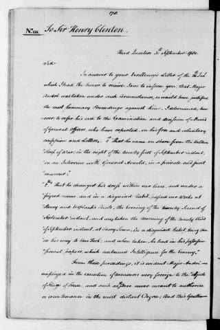 General Washington's Letter about John Andre