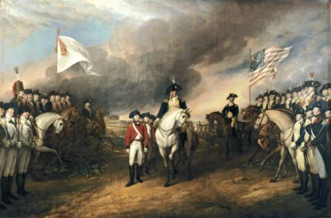 Cornwallis Surrenders His Troops at Yorktown Famous Historical Events Famous People Tragedies and Triumphs American Revolution Visual Arts