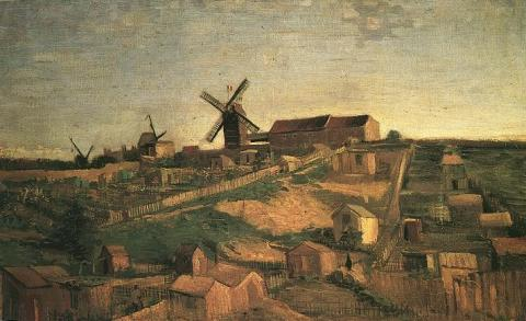 Paris Years - View of Montmartre with Windmills Biographies Famous People Geography Tragedies and Triumphs Visual Arts Nineteenth Century Life