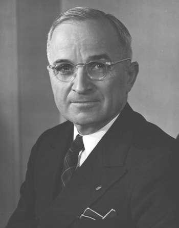 Photograph of U.S. President Harry S. Truman taken by Frank Gatteri, of the U.S. Army Signal Corps