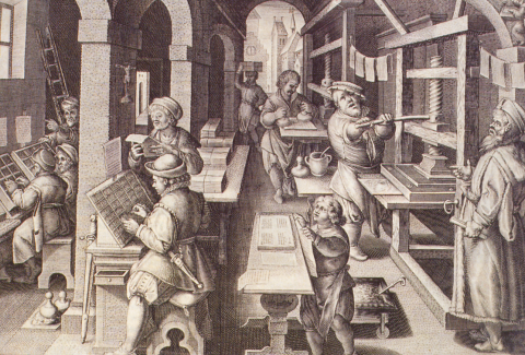 Gutenberg Printing Press in Operation (Illustration) Social Studies Tragedies and Triumphs Visual Arts