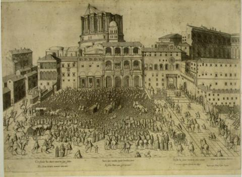 Drawing of the Building of Vatican Social Studies Philosophy Legends and Legendary People
