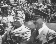 Mussolini and Hitler in Germany