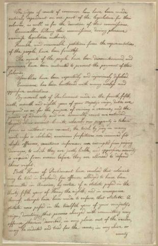 Petition of First Continental Congress