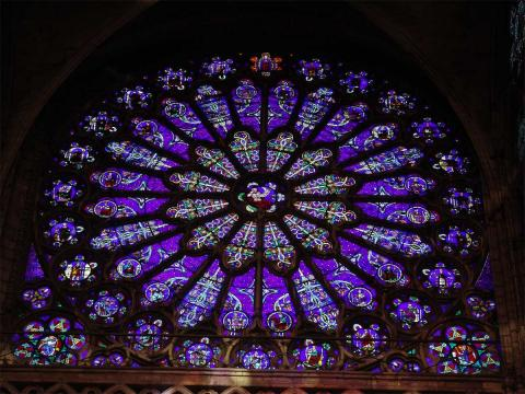 St. Denis - Rose Window, South Transept Arm Philosophy Visual Arts