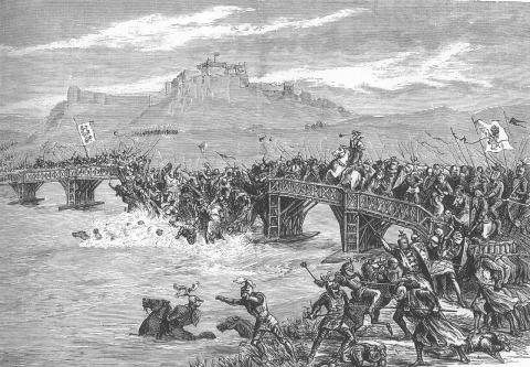 Stirling - Battle at a Wooden Bridge Famous Historical Events World History Visual Arts