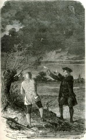 Ben Franklin Flies a Kite during a Storm STEM American History Famous People Famous Historical Events Visual Arts