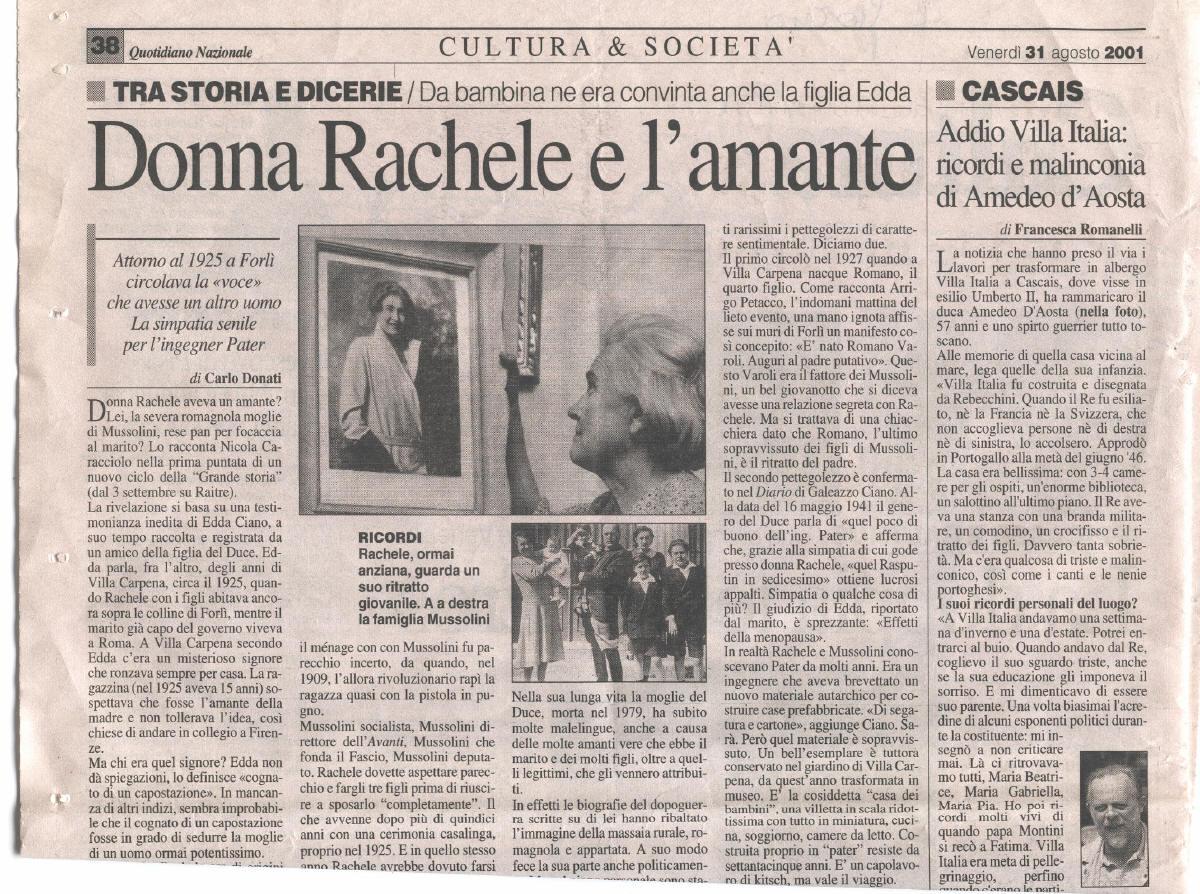 Rachele Mussolini - Wife of Benito Mussolini