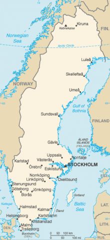 Location of Hedestad and Hedeby Island fictional places created by Stieg Larsson