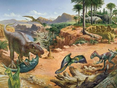 THE JURASSIC PERIOD (Illustration) Archeological Wonders Legends and Legendary People STEM Visual Arts Social Studies Film