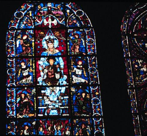 La Belle Verriere - Medieval Window at Chartres Geography Medieval Times Philosophy Visual Arts