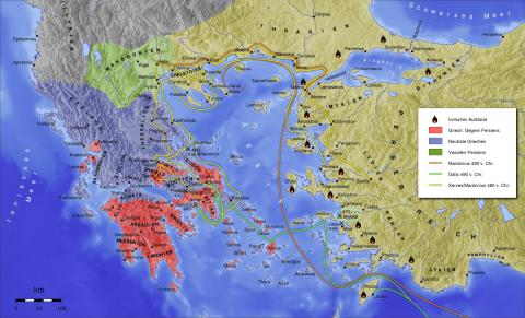 Xerxes - Map of Persian-War Invasions Social Studies Geography Ancient Places and/or Civilizations Famous People History World History