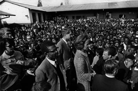 Bobby and Ethel at a Primary School - South Africa, 1966 Civil Rights American History Biographies Famous People Social Studies The Kennedys