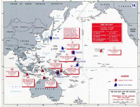 Japanese Air Operations - Controlling the Pacific Social Studies World War II Geography