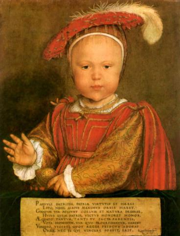 Young Prince Edward - Future Edward VI Social Studies World History Legends and Legendary People Visual Arts