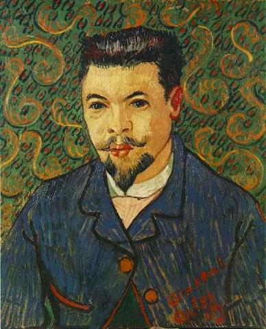 Portrait by van Gogh - Dr. Felix Ray Tragedies and Triumphs Visual Arts Nineteenth Century Life