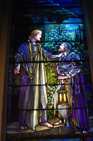 Tiffany Window - First Presbyterian, Lockport Philosophy Visual Arts