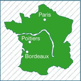 Map Depicting Poitiers