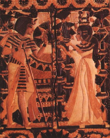 King Tut and Ankhesenamun, His Wife Ancient Places and/or Civilizations History Social Studies Visual Arts