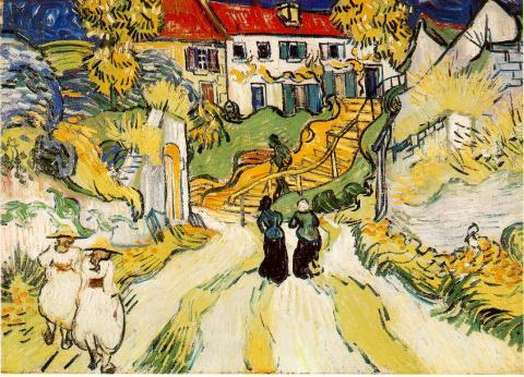 van Gogh Painting - Village of Auvers Biographies Famous People History Social Studies Tragedies and Triumphs Visual Arts Legends and Legendary People
