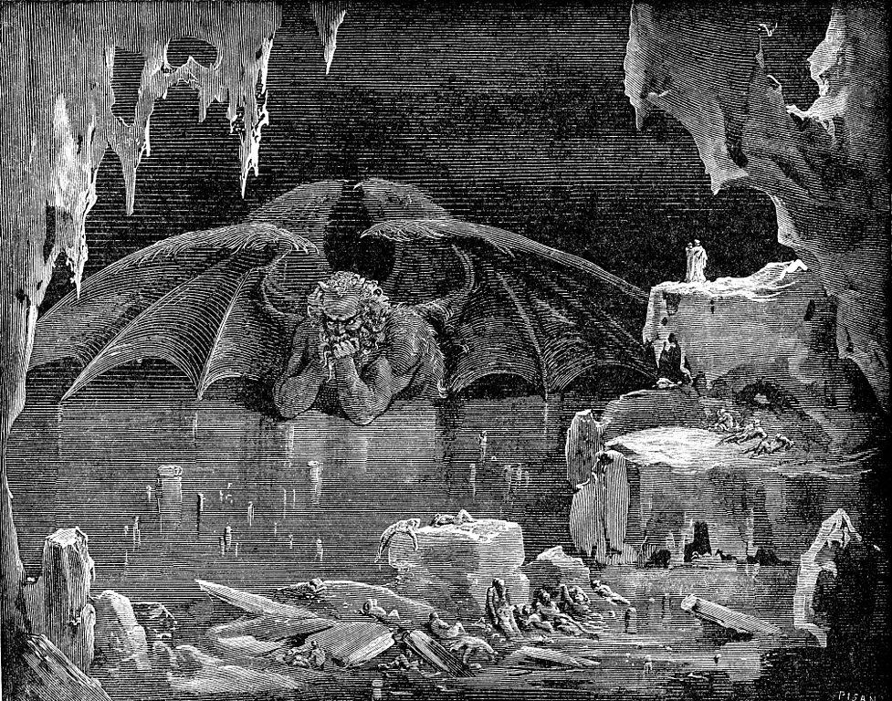 Virgil Dantes Inferno Satan Frozen in...