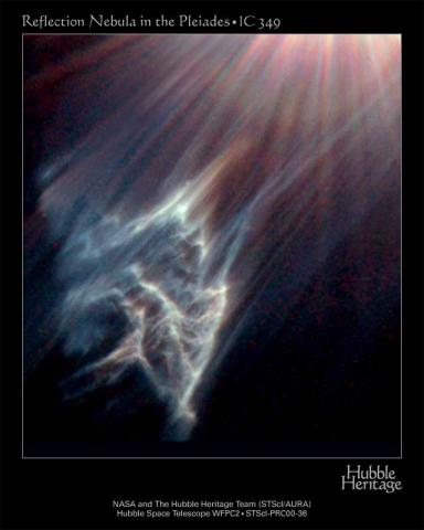 Reflection Nebula in the Pleiades - IC 349 Astronomy Aviation & Space Exploration STEM Visual Arts