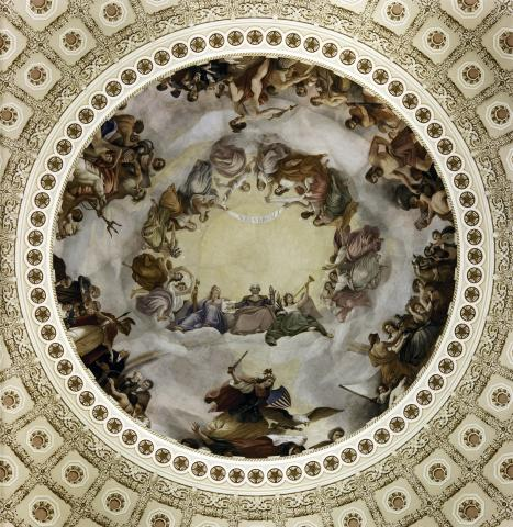 Apotheosis of Washington - U.S. Capitol Rotunda Visual Arts American History Civil Rights Famous Historical Events Famous People Government Social Studies
