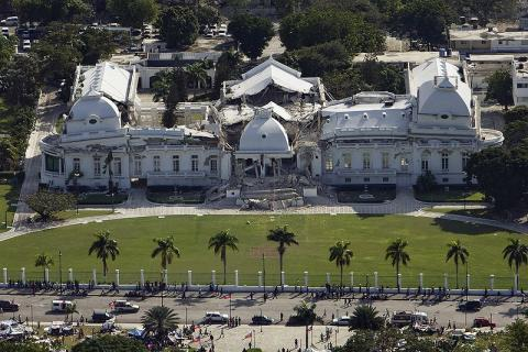 Haiti - Damaged Presidential Palace Disasters Famous Historical Events Geography World History