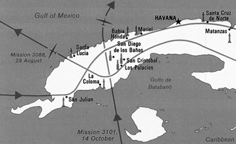 in 1962 major richard heyser flew his u 2 on a flight mission 3101 over the caribbean island this cia map depicts his route of travel