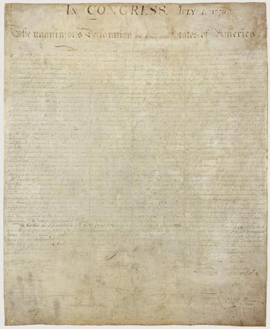 Original Declaration - July 4, 1776 American Revolution Famous Historical Events Government Law and Politics American History
