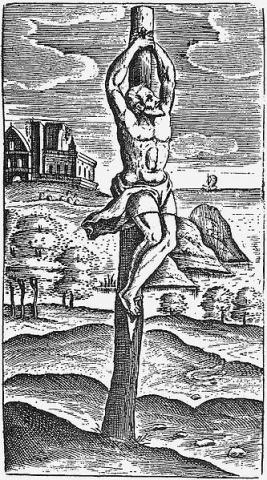 Roman Crucifixion - Method of Execution (Illustration) Crimes and Criminals Ethics Ancient Places and/or Civilizations World History Civil Rights Medicine Visual Arts