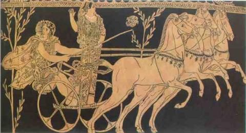Pelops and Hippodameia in a Chariot Race Ancient Places and/or Civilizations Archeological Wonders Biographies Sports Visual Arts Legends and Legendary People